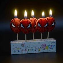5pcs/pack Birthday Candles Spider man Candles Shower Cake Cupcake Toppers Party Birthday Cake Candles Party Decoration Supplies