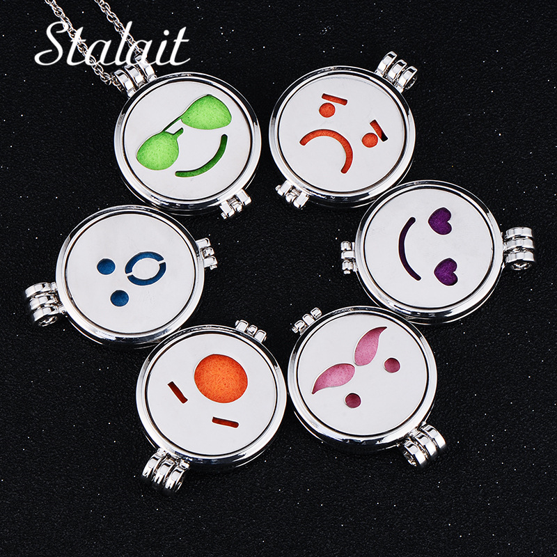 Glow In the Dark Jewelry Aromatherapy Necklaces Essential Oil Diffuser Stainless Steel F ...