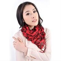 Förderung Preis Hohe Qualität 2015 Mode Schädeldruck Schal Quaste Weichen Winter Herbst Lange Schals Für Frauen 9 Styles Wahl