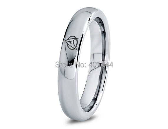 free shipping usa uk canada russia brazil 5mm comfort fit silve dome star trek trekkie new mens fashion tungsten wedding ring - Star Trek Wedding Ring