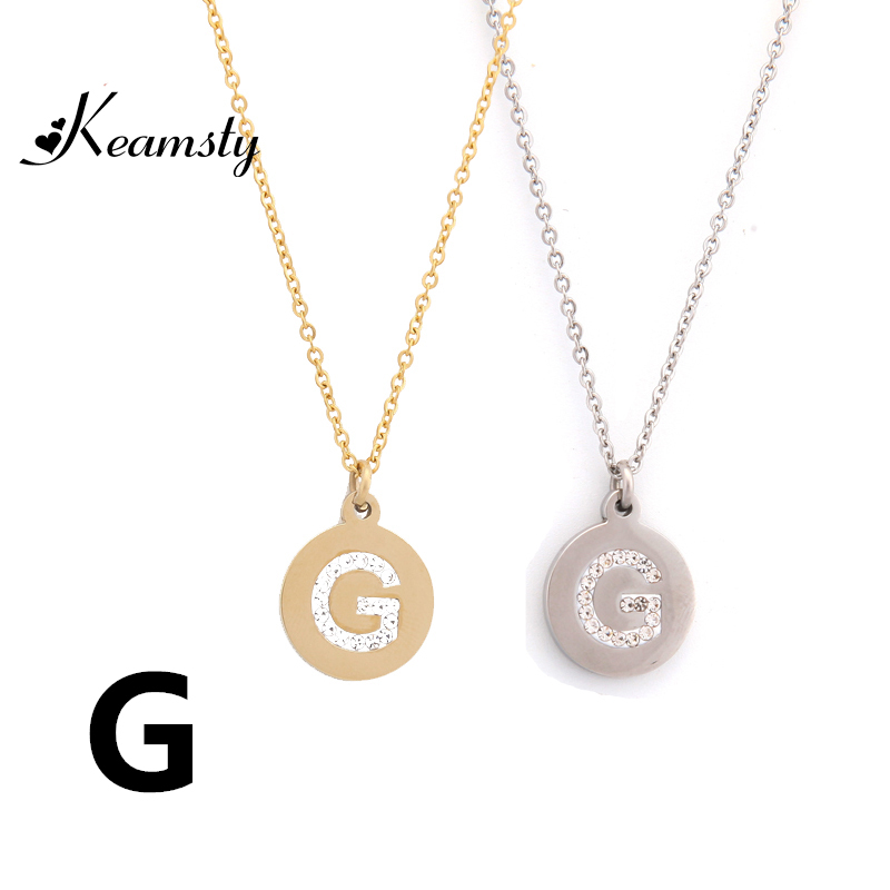 Keamsty Women Jewelry Silver And Gold Initial Letter G