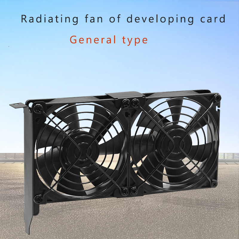 90mm Graphics card Cooling Cooler Fan for GTX 1070 1060 1050i GPU radiator Partner Ultra Quiet Universal Cooler Dual Heatsink 1u server computer copper radiator cooler cooling heatsink for intel lga 2011 active cooling