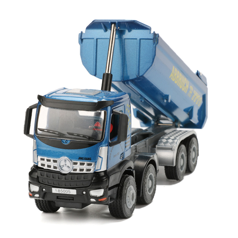JINGBANG 1:50 Dumper Model Toy Simulation Alloy Dump Truck Engineering Car Toys For Children Trucks 1 50 drill wagon alloy truck engineering vehicle toy car model dinky toys for children boys gift
