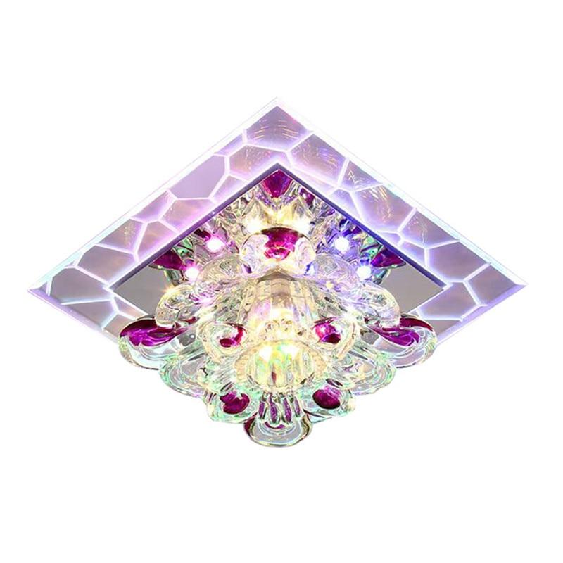 Современный минималистичный красочный квадратное настенное бра креативный Хрустальный светодиодный светильник для коридора фойе домашне...