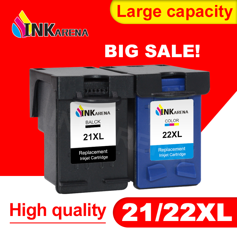 INKARENA 21XL 22XL Refill Ink <font><b>Cartridge</b></font> Replacement for <font><b>HP</b></font> <font><b>21</b></font> <font><b>22</b></font> XL for Deskjet F2180 F2200 F2280 F4180 F300 F380 380 Printer image