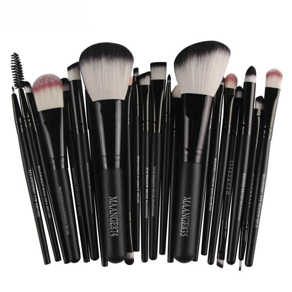 Pro 22pcs/set Makeup Brushes Powder Foundation Eyeshadow Eyebrow Eyeliner Blush Make up Brush Set Cosmetic Soft Synthetic Hair 2