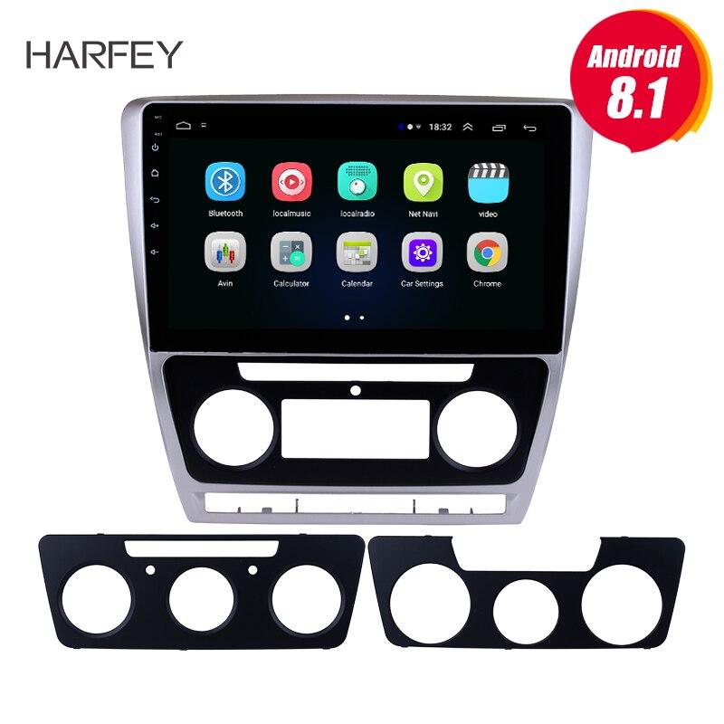 Harfey 2 din Android 8 1 Touch Screen GPS 10 1 Car Radio For Skoda Octavia