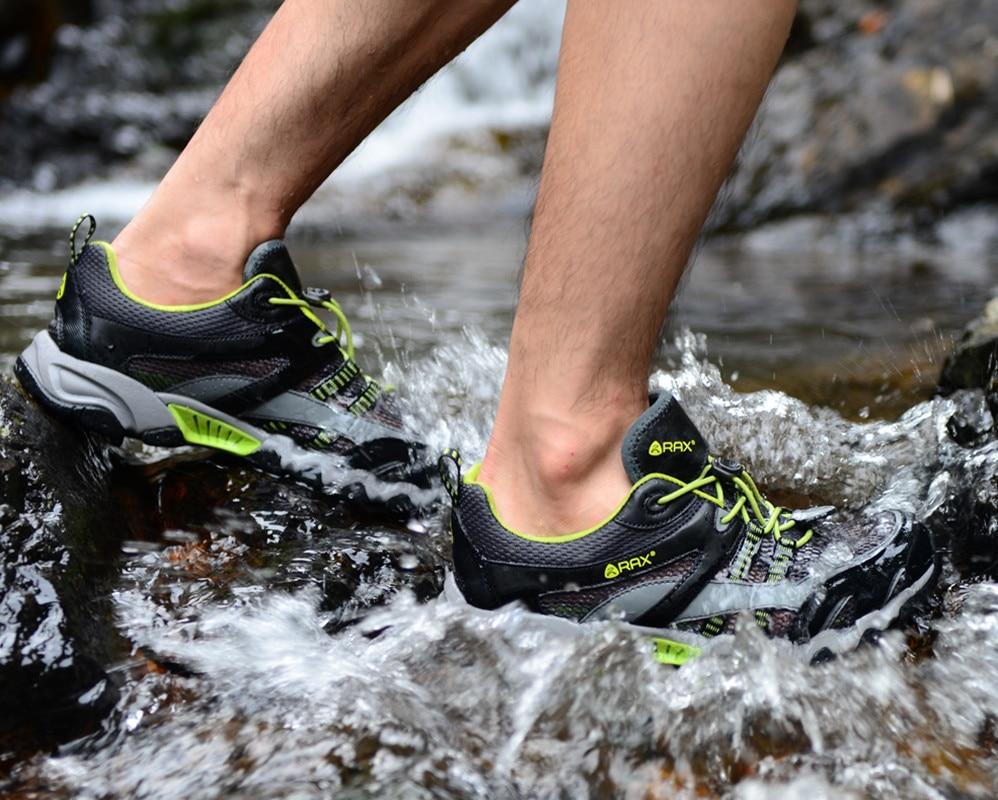RAX Men Breathable Outdoor Summer Upstream Shoes Men Lightweight Trekking Shoes For Men Aqua Water Shoes Senderismo Hombre rax men hiking shoes women outdoor climbing trekking boots breathable lightweight walking shoes zapatos hombre senderismo