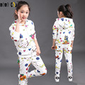 Fashion Children's Outfits Casual Kids Girls Clothes Sets 2 Pcs Sweatshirts & Pants Spring Autumn Print Baby Girls Sport Suits