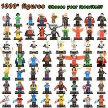Super Heroes Marvel Figures Captain American The Hulk Spiderman Iron Man LEGOINGLYS Building Blocks Mini Bricks Children Toys