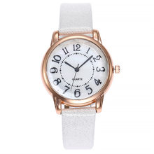 Montre En Cuir à Quartz pour Femmes, Bracelet De Luxe, Simple, Cadran, Mode décontractée, livraison directe