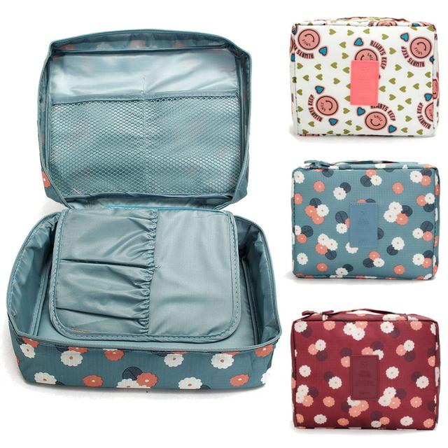 Waterproof Nylon Travel Storage Bags Luggage Clothes Cosmetic Makeup Divider Organizer Ng Pouch Toiletry Handbags
