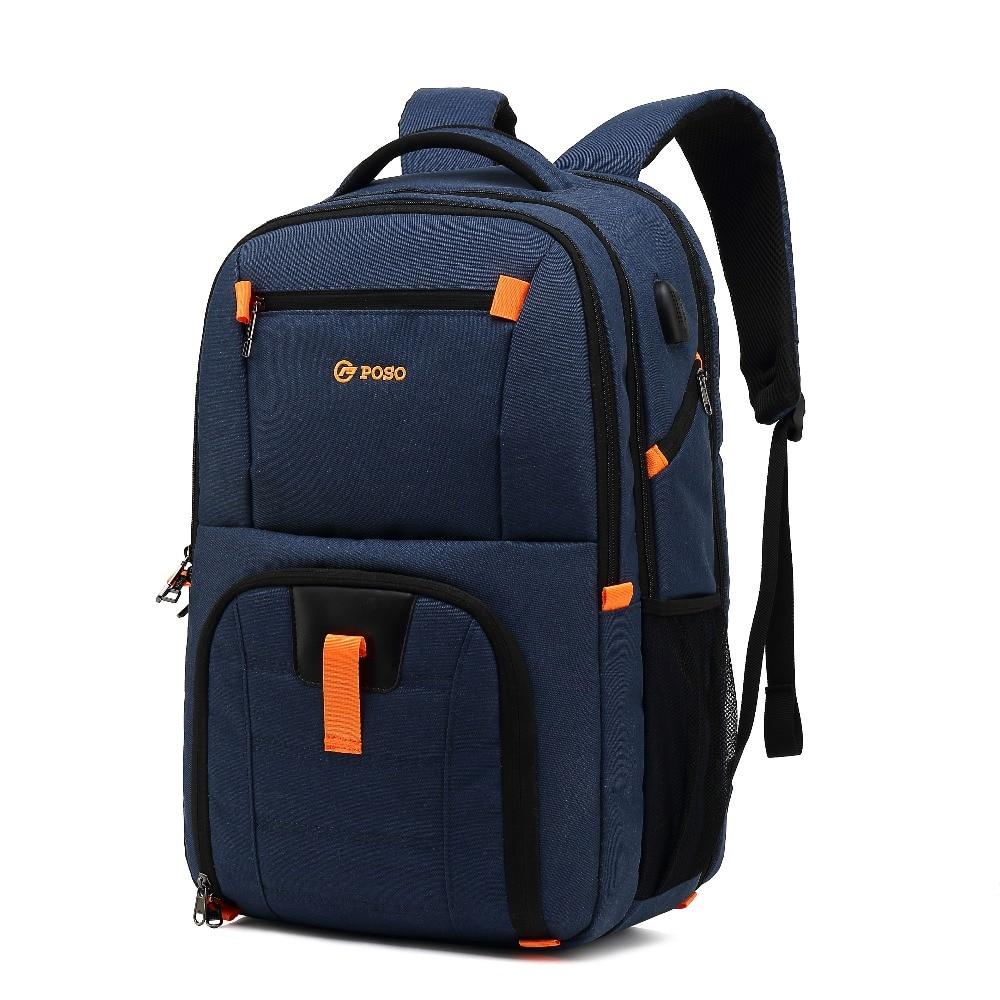 Waterproof Laptop Backpack USB Charger 17inch School Bag Casual Backpack Men Women 17 inch Travel Bag for Teenage