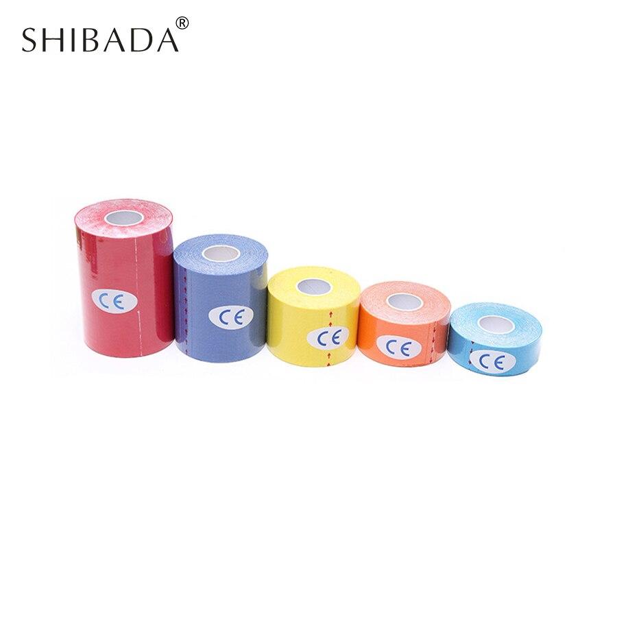 Shibada кинезиологии ленты многоцветные Водонепроницаемый эластичный roll мышцы деформации ленты защиты ленты первой помощи повязки Поддержка