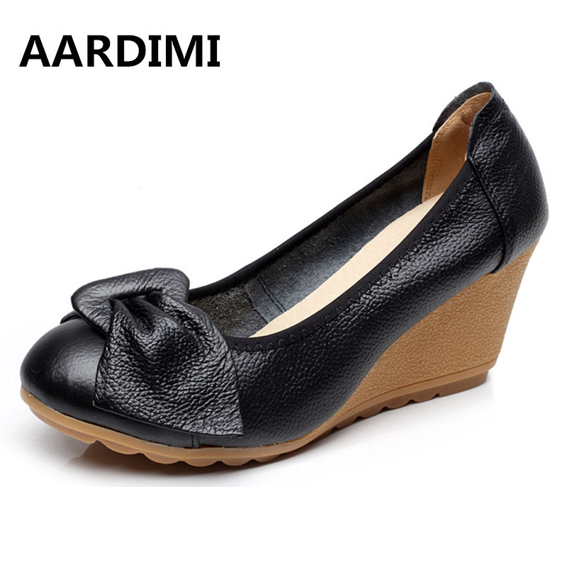 New arrival vintage mary janes women shoes genuine leather spring slip on high heels black white