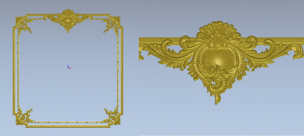 Relief 3d STL Models For CNC, Artcam, Aspire, Decor-B61