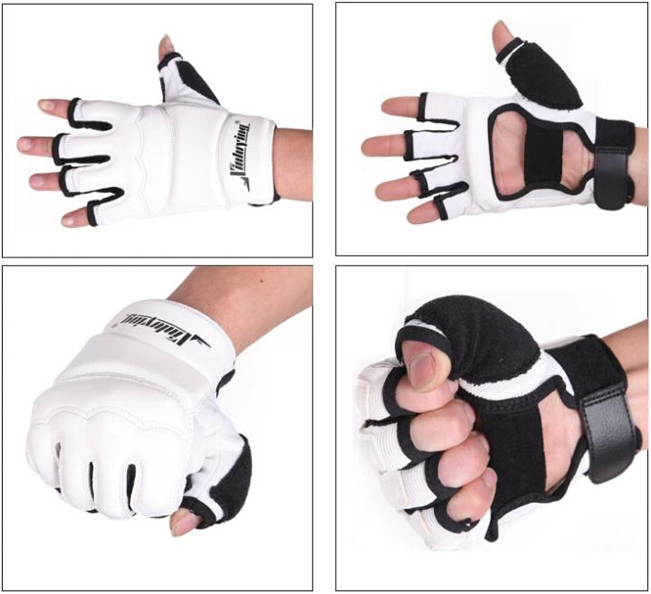 Taekwondo Gloves Fighting Hand Protector WTF Approved Martial Arts Sports Hand Guard PU Leather Fitness Boxing Gloves 6