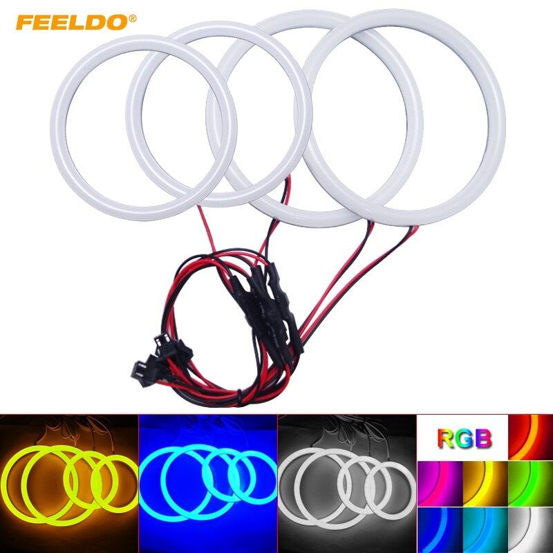FEELDO 1 компл Авто Halo кольца хлопок светодиодные лампы SMD Ангельские глазки для BMW E92 дневные ходовые огни