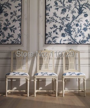 Europe style Hand-painted silk wallpaper painting flowers with birds hand painted wall paper wallcovering many pictures optional