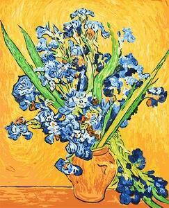 Van Gogh Iris Peinture Par Numéros Sans Cadre DIY Toile Peinture À L'huile Décoration de La Maison Pour Le Salon Décoration Photos
