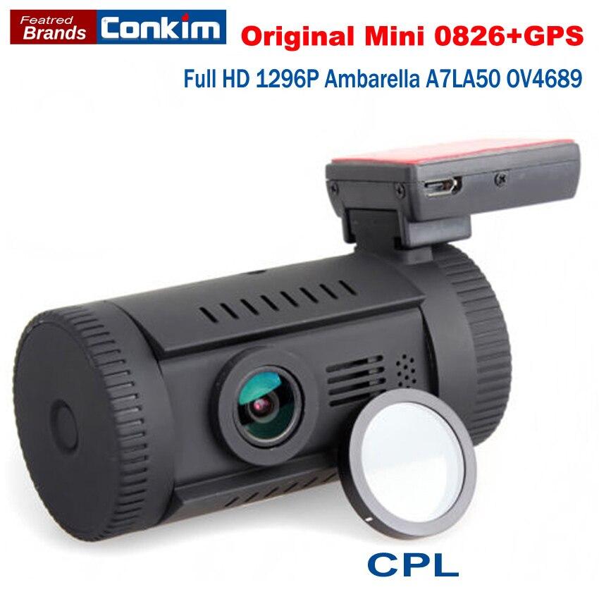 Оригинальный автомобильный видеорегистратор Мини 0826 (0806 Плюс) полный HD2304x1296P Ambarella A7LA50 OV4689 GPS Автомобильный ВИДЕОРЕГИСТРАТОР Даш Cam + CPL Фильтр автомобильный ВИДЕОРЕГИСТРАТОР recorder