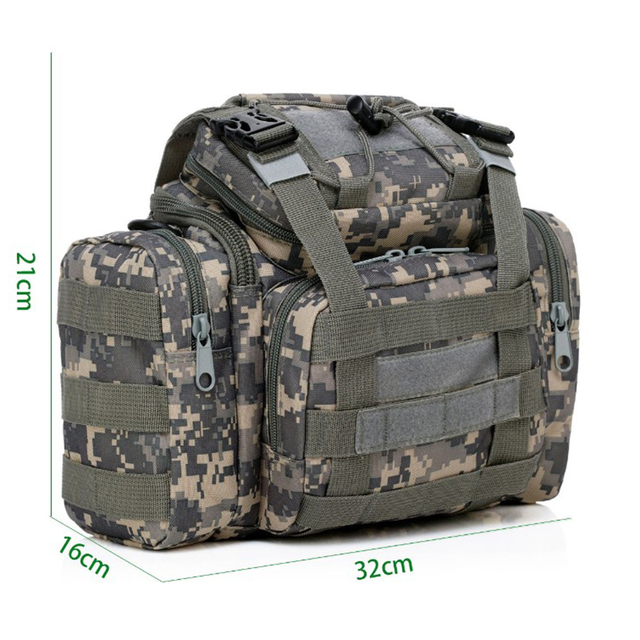 Cheap Multifunction Outdoor Sport Fishing Bag Waist Bag Shoulder Bag Handbag 32cm*16cm*21cm