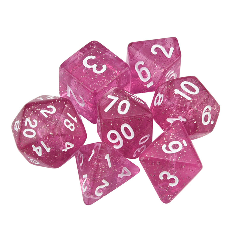 7pcs / Set Multifaceted Dice TRPG Game Polyhedral D4-D20 Multi Sided Digital Dice 2-2.5cm Game dice #2N23