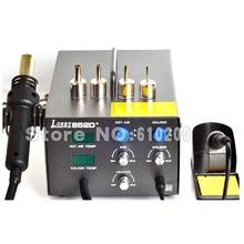 Lukey 852D + 2 in 1 Dual-display Heißluft Rework Heißluft-gewehr BGA überarbeitungsstation 220 V Importiert heizung CE Zertifizierung