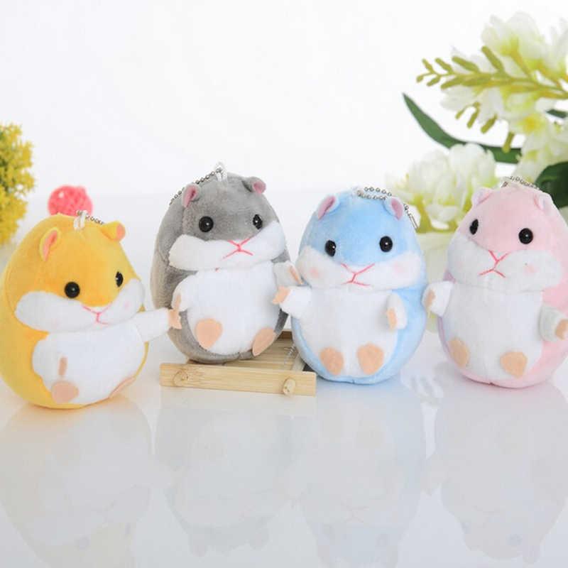 Chaveiros de pelúcia Hamster Mini Chaveiros Chaveiros Bugigangas Fofo Bolsa Pingente Chian Chave Do Carro Brinquedo Saco Cadeias Encantos Presente