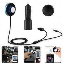 2016 Kit de Coche 3.5mm Receptor de Audio Bluetooth 4.0 Manos Libres de Música Estéreo Aux Altavoz USB Cargador de Coche