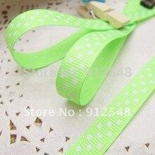 Wholesale 20yards 3/8″ 10mm green Polka Dots Grosgrain Ribbon -Free Shipping,yd10005