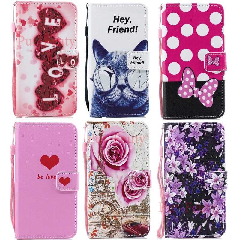 Cute Cartoon <font><b>Wallet</b></font> <font><b>Case</b></font> for <font><b>Samsung</b></font> Galaxy A10 A30 A20 A40 A 50 A70 <font><b>M10</b></font> M20 M30 S10e S 10 Plus <font><b>Leather</b></font> <font><b>Flip</b></font> <font><b>Stand</b></font> Holder Cover image