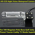 For VW Magotan Polo Bora Golf Jetta Passat CC Touran Caddy Multivan T5 Transporter Car CCD Night Vision Backup Rear View Camera