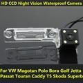 Para VW Magotan Bora Polo Golf Jetta Passat CC Touran Caddy Multivan T5 Transporter Coches CCD de Visión Nocturna Cámara de Visión Trasera de Copia de seguridad