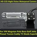 Para VW Magotan Polo Golf Bora Jetta Passat CC Touran Caddy Multivan T5 Transporter Carro Visão CCD Noite Câmera de Visão Traseira de Backup