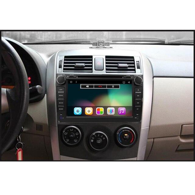 2 din Android 5.1 jogador do carro dvd para Toyota Corolla 2007 2008 2009 2010 2011 Quad Core 8 polegada 1024*600 tela rádio estéreo do carro