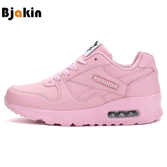 ba0045c0 Bjakin Women Running Shoes Cushion Support Womens Sneakers 2017 Wedge  Sneakers Female Running Pink Zapatillas Deportivas Mujer