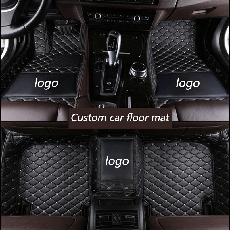Kalaisike Personnalisé tapis de sol de voiture pour Audi tout modèle A1 A3 A8 A7 Q3 Q5 Q7 A4 A5 A6 S3 S5 S6 S7 S8 R8 TT SQ5 SR4-7 style de voiture - 3