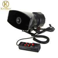 Loud Horn Siren 12V Speaker 5 Sounds Tone PA System 60W Max 300db For Car Auto