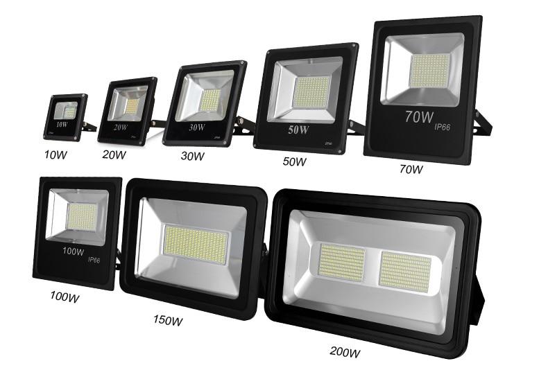 20% OFF 2018 NEW  ultrathin LED flood light 100W AC85-265V waterproof IP65 Floodlight Spotlight Outdoor Lighting cool/warm