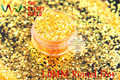 TCR335  American Fantasy Iridescent  Orange Red glitter dust Round Dot  Shape  for nail Art or other DIY decoration