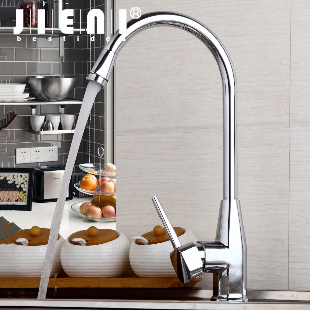 RU & China Kitchen Sink Basin Faucet Deck Mount Bright Chrome Washing Basin Mixer Water taps Hot & Cold Water Mixer Taps