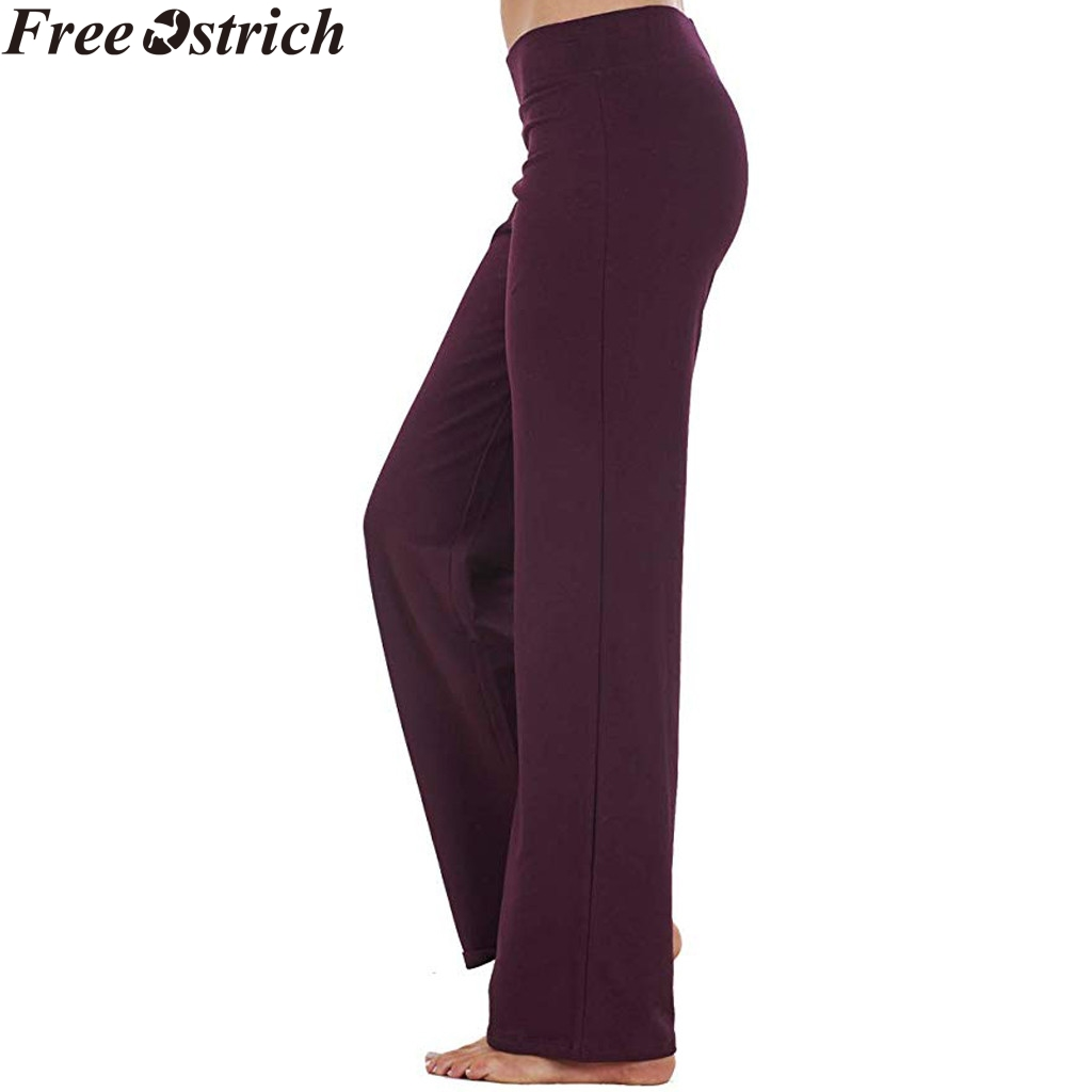 US $5.67 39% OFF|Women\'s elastic sports trousers loose jogging fitness plus  size wide leg pants Ladies printed casual straps harem pants trousers-in ...