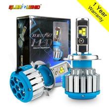 H4 Hi/Lo Led HB2 9003 Led High Power 80W 8000lm 6000k White Car Headlight Fog Light Conversion Kit