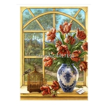 Window flowers DIY Christmas Diamond Painting Full Square New Arrival Flowers Embroidery Picture Of Resin Rhinestone