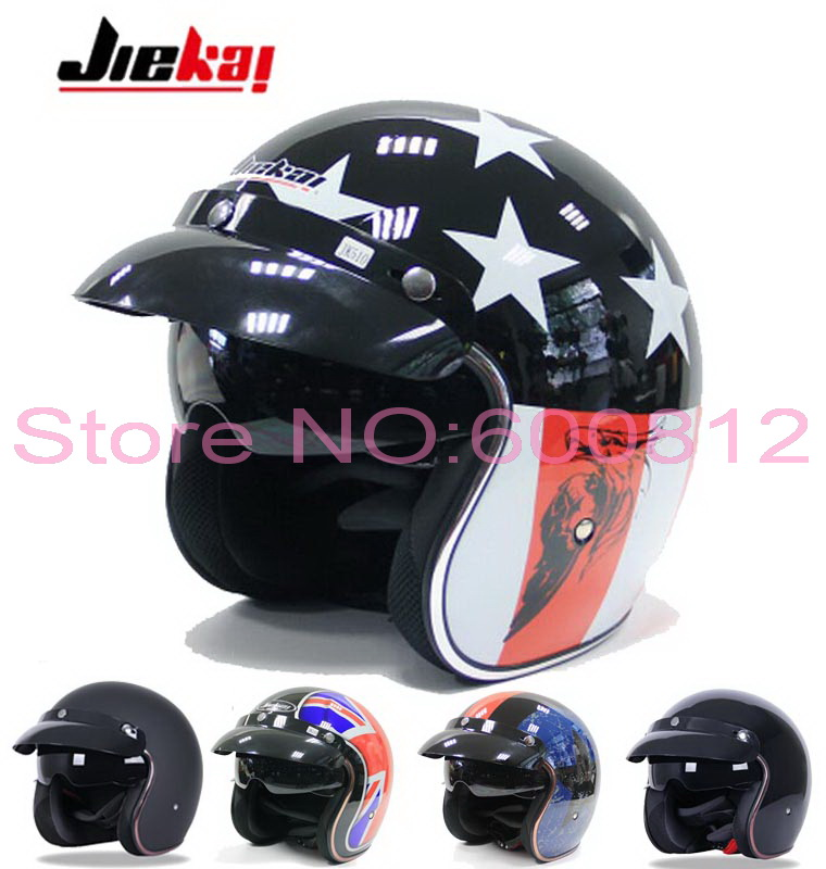 2016 New JIEKAI motorcycle helmet vintage Prince half face motorbike helmets Captain America hat made of ABS for Harley style 2016 newest netherlands authorization beon retro air force harley style half face motorcycle helmet b 100 of abs matte black cat