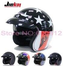 2016 Новый JIEKAI мотоциклетный шлем старинные Князь пол-лица мотоцикл шлемы Капитан Америка шляпа сделана из ABS для Harley стиле