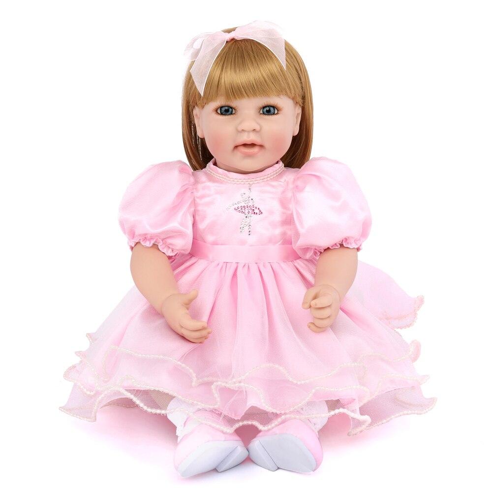 20 дюймов ручной работы хлопок тело Возрожденный ребенок Куклы живые куклы 50 см ребенок Возрожденный силикон куклы для девочек Дети игрушки ...