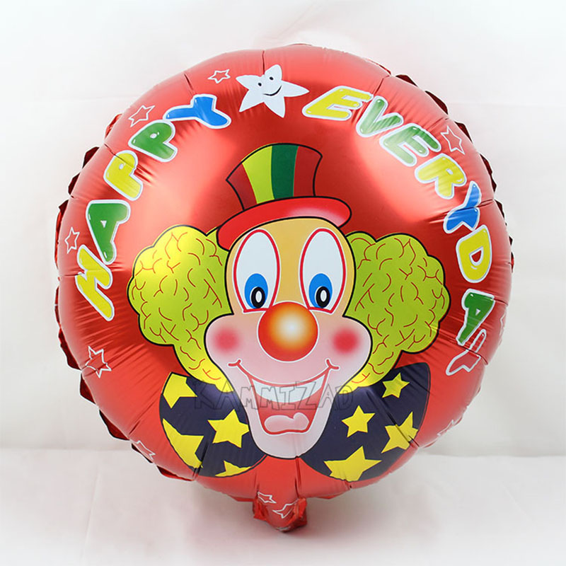 20pcs lot patati patata helium balloons round clown ballon for baby shower 18inch foil globos engagement party supplies in Ballons Accessories from Home Garden