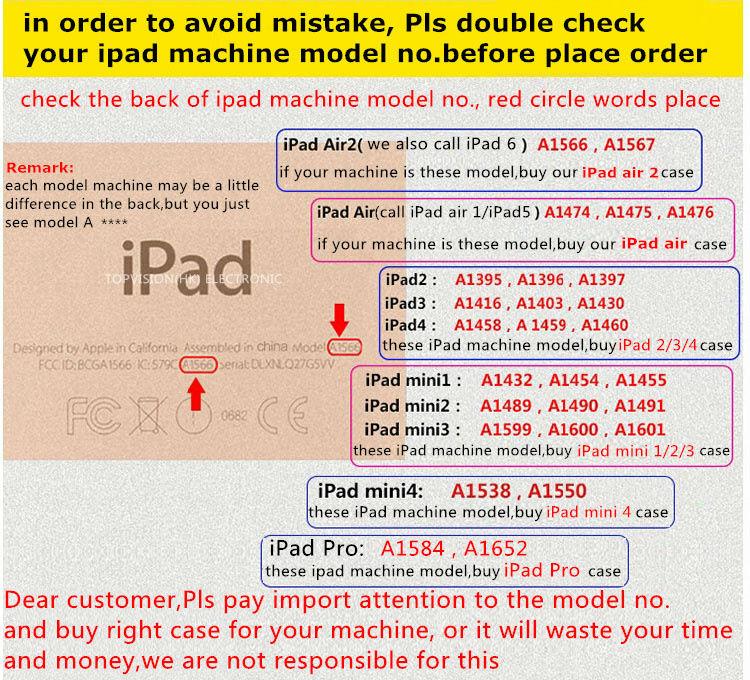 iPad model no